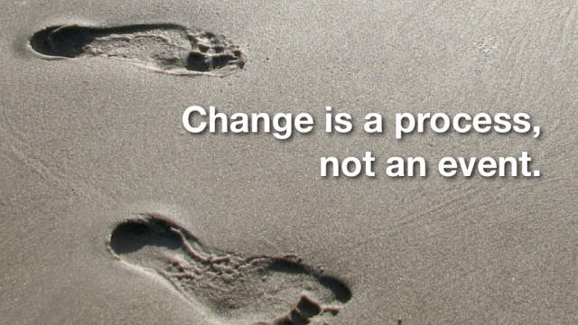 change is a process for adhd adults not an event